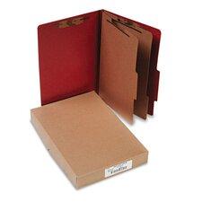 Pressboard 25-Pt. Classification Folder, Legal, 6 Section, 10/Box