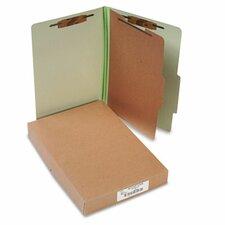 Pressboard 25-Pt. Classification Folders, Legal, 4-Section, 10/Box