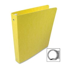 Recycled Presstex Round Ring Binder, 1in Capacity, Yellow (Set of 2)