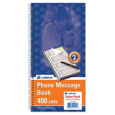 2 Part Carbonless Phone Message Book (Set of 450)