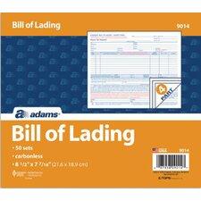 4 Part Bill of Lading Short Form (Set of 1250)