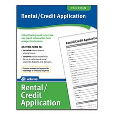 Rental/Credit Application Forms and Instruction (Set of 1728)