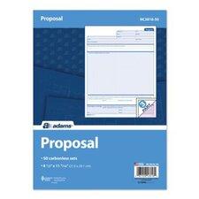 3 Part Carbonless Proposal Unit (Set of 3200)