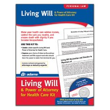 Living Will and POA For Healthcare Forms and Instructions Kit (Set of 384)