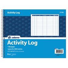 Spiral Bound Activity Log (Set of 100)