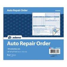 3 Part Carbonless Auto Repair Order Form (Set of 1250)