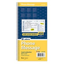 2 Part Carbonless Phone Message Book (Set of 900)