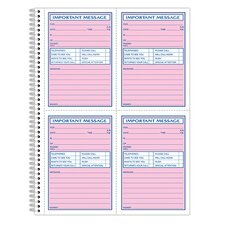2 Part Carbonless Spiral Bound Phone Message Book (Set of 225)