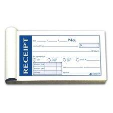 """Money/Rent Receipt Bk,Tape Bound,2-Part,2-3/4""""x5-3/8"""",50/BK (Set of 2)"""