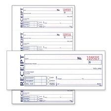 "Money/Rent Receipt Book, Carbonless, 2-Part, 7-5/8""x11"", White"