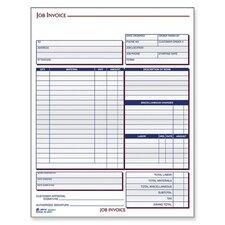 "Job Invoice Forms, 2-Part, Corbels, 8-1/2""x11-7/16"""