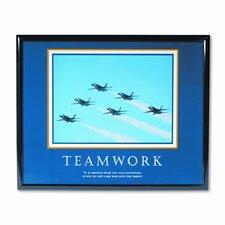 """Teamwork/Jets"" Framed Motivational Print, 31-1/2w x 25-1/2h"