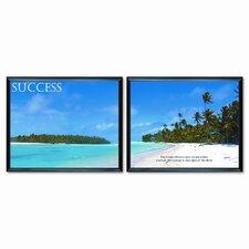 """Success"" Framed Motivational Print, 30w x 24h, Two per Set"