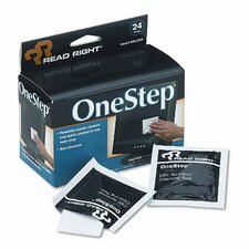 Read Right Onestep Screen Cleaner, 5 X 5, 24/Box (Set of 2)