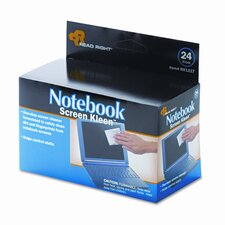 Read Right Notebook Screenkleen Pads, Cloth, 2 1/2 X 5 1/4, 24/Box (Set of 2)