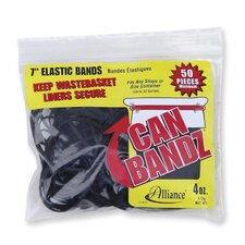 "Can Rubber Bands, 7""x1/8"", Fits 13Qt.-32 Gallon, 50 per Pack, Black (Set of 3)"