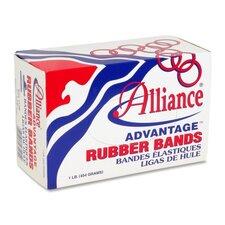 "Rubber Bands, Size 107, 1 lb., 7""x5/8"", Natural (Set of 2)"