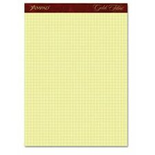 "Gold Fibre Canary Quadrille Pad, 8-1/2"" x 11-3/4"", Canary, 4 squares/inch, 50 Sheets (Set of 2)"