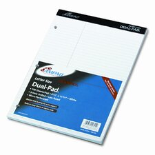 Evidence Dual Ruled Pad, Law Rule, 8-1/2 X 11-3/4, 100 Sheets