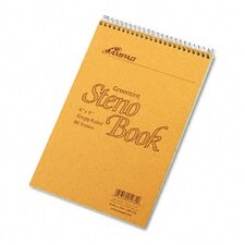 Spiral Steno Book, Gregg Rule, 6 X 9, 80 Sheets (Set of 3)