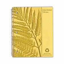 Earthwise By Oxford Envirotec Subject Notebook, College/Med Rule, 8-7/8 X 11, We, 100 Sheets