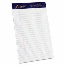 Gold Fibre Ruled Pads, Jr. Legal Rule, 5 X 8, 4 50-Sheet Pads/Pack