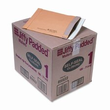 Jiffy Padded Self-Seal Mailer, Side Seam, #1, Golden Brown, 100/carton