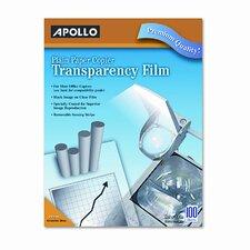 Plain Paper Copier Transparency Film, Removable Sensing Stripe, 100/Box