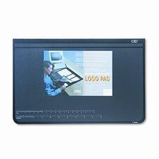Logo Pad Desktop Organizer with Clear Overlay, 31 X 20