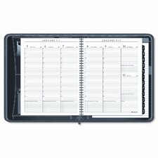 Executive Weekly/Monthly Planner with Zippered Cover, 8-1/4 x 10-7/8, Black, 2013