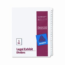 Allstate-Style Legal Size Tab Dividers, 25-Tab, 126-150 Tab Title (Set of 75)