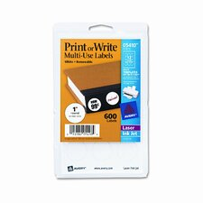 Print or Write Removable Multi-Use Labels, 600/Pack