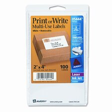 Print or Write Removable Multi-Use Labels, 100/Pack (Set of 2)