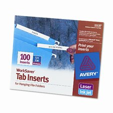 Laser/Inkjet Hanging File Folder Inserts (100/Pack) (Set of 4)
