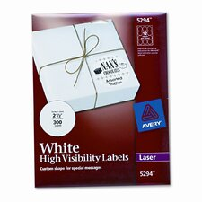 High-Visibility Round Laser Labels, 300/Pack