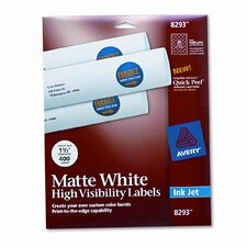 Inkjet Labels for Color Printing (400/Pack)