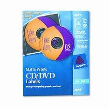 Inkjet CD/DVD Labels (100/Pack)
