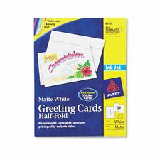 Inkjet-Compatible Greeting Cards with Envelopes, 5-1/2 x 8-1/2, 30 per Box