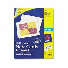 Printable Embossed Card with Envelopes (60/Box)
