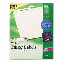 Permanent Self-Adhesive Laser/Inkjet File Folder Labels (750/Pack)