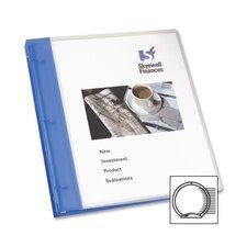 "Flexible Presentation Binder, View Pocket, 1"" Capacity, Blue/Gray (Set of 2)"