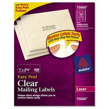 Easy Peel Laser Mailing Labels, 300/Pack