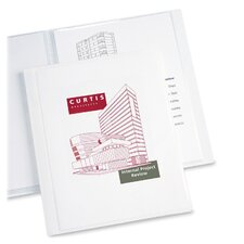 "Presentation Book, 12 Pages, 8-1/2""x11"", White (Set of 3)"