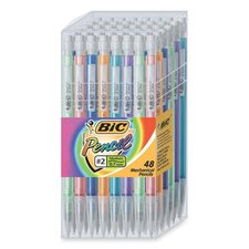 Mechanical Pencil, 0.7mm, 48 per Set, Assorted
