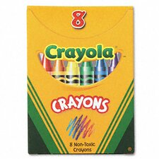 Classic Color Pack Crayons (Tuck Box, 8 Colors/Box) (Set of 6)