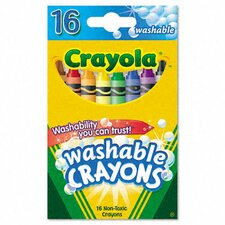 Washable Regular Crayons (16/Box) (Set of 3)