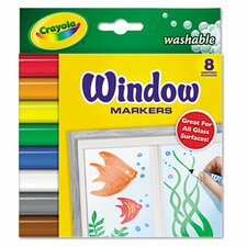 Washable Window Fx Conical Tip Markers (8/Set)