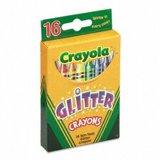 Glitter Crayons (16 Colors/Set) (Set of 3)