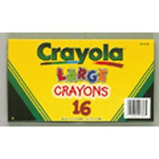 Crayola Large Size Crayon 16pk (Set of 2)