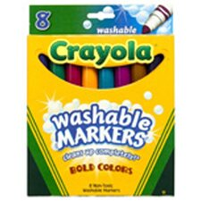 Washable Bold Colors Mkr 8 Pk (Set of 2)
